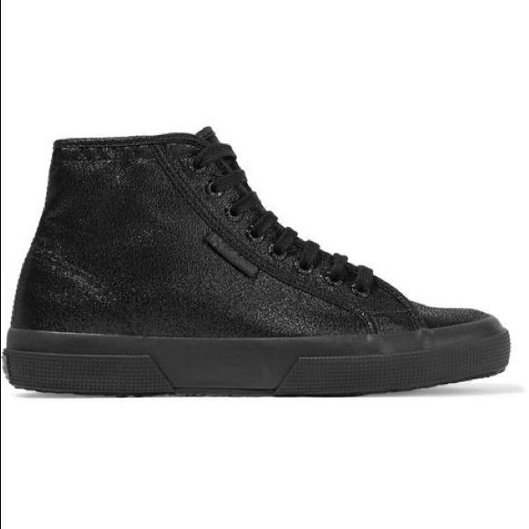 Superga Shoes   Hightop Black Glitter